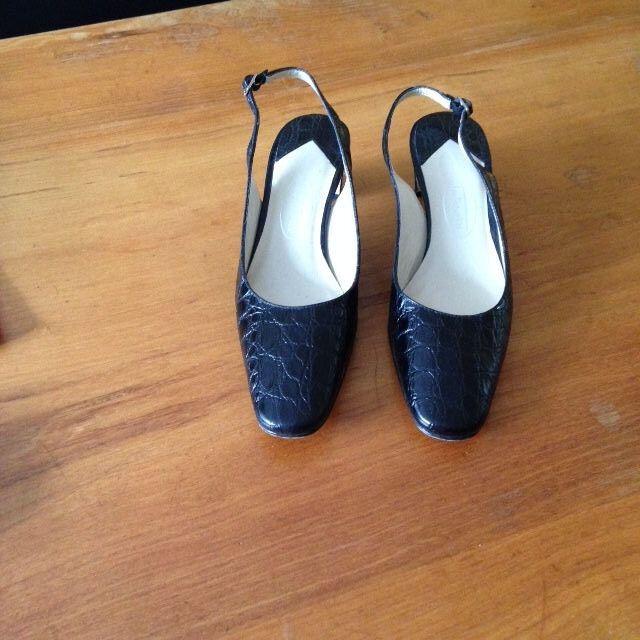 Talbots Cocodrilo Negro Efecto zapatos