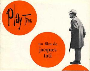 PLAYTIME-JACQUES-TATI-PROMOTIONAL-BOOKLET-RARE