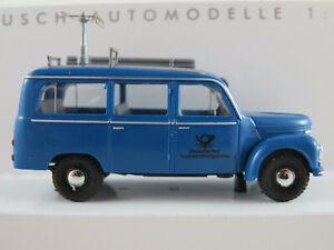 Busch-51259-Framo-v901-2-bus-1954-034-bleue-post-antiparasitage-034-1-87-h0-Nouveau-Neuf-dans-sa