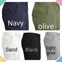 Men's new 100% cotton cargo combat summer knee length half pant