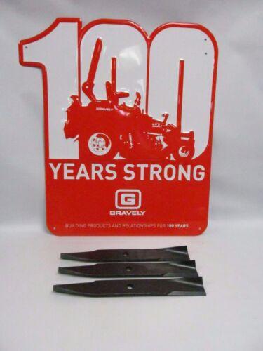 OEM Genuine Gravely Ariens 1 Set of 3 Lawnmower Blades 03498400