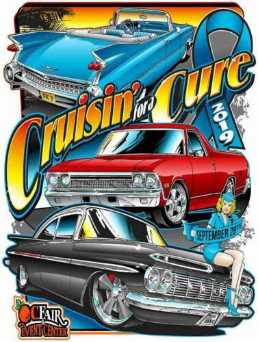 Cruisin/' for a Cure Against Prostate Cancer Car Event September 2019 Metal Sign