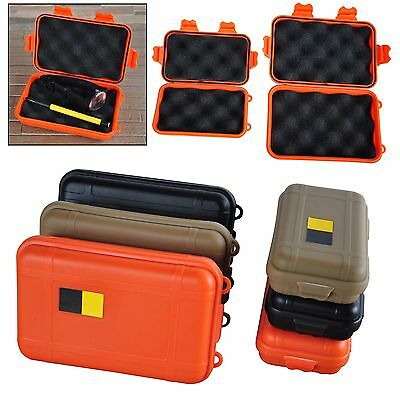 Shockproof Waterproof Airtight Survival Storage Case Container Carry Box Outdoor