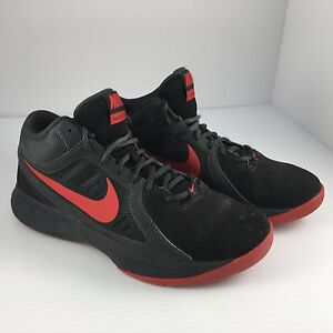 Mens Size 7 Nike Overplay VIII 8 Basketball Shoes Red   Black 643168 ... b934ce767