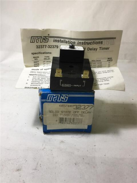 Mars 32377 Solid State Timer 24vac 50/60hz 6a on