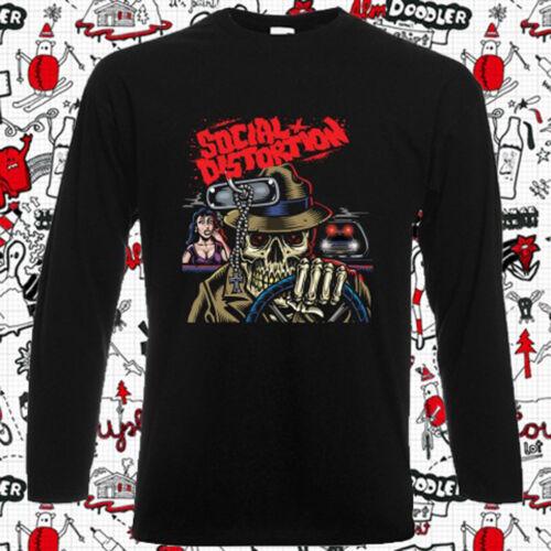 Social Distortion Tour Logo Punk Men/'s Long Sleeve Black T-Shirt Size S-3XL