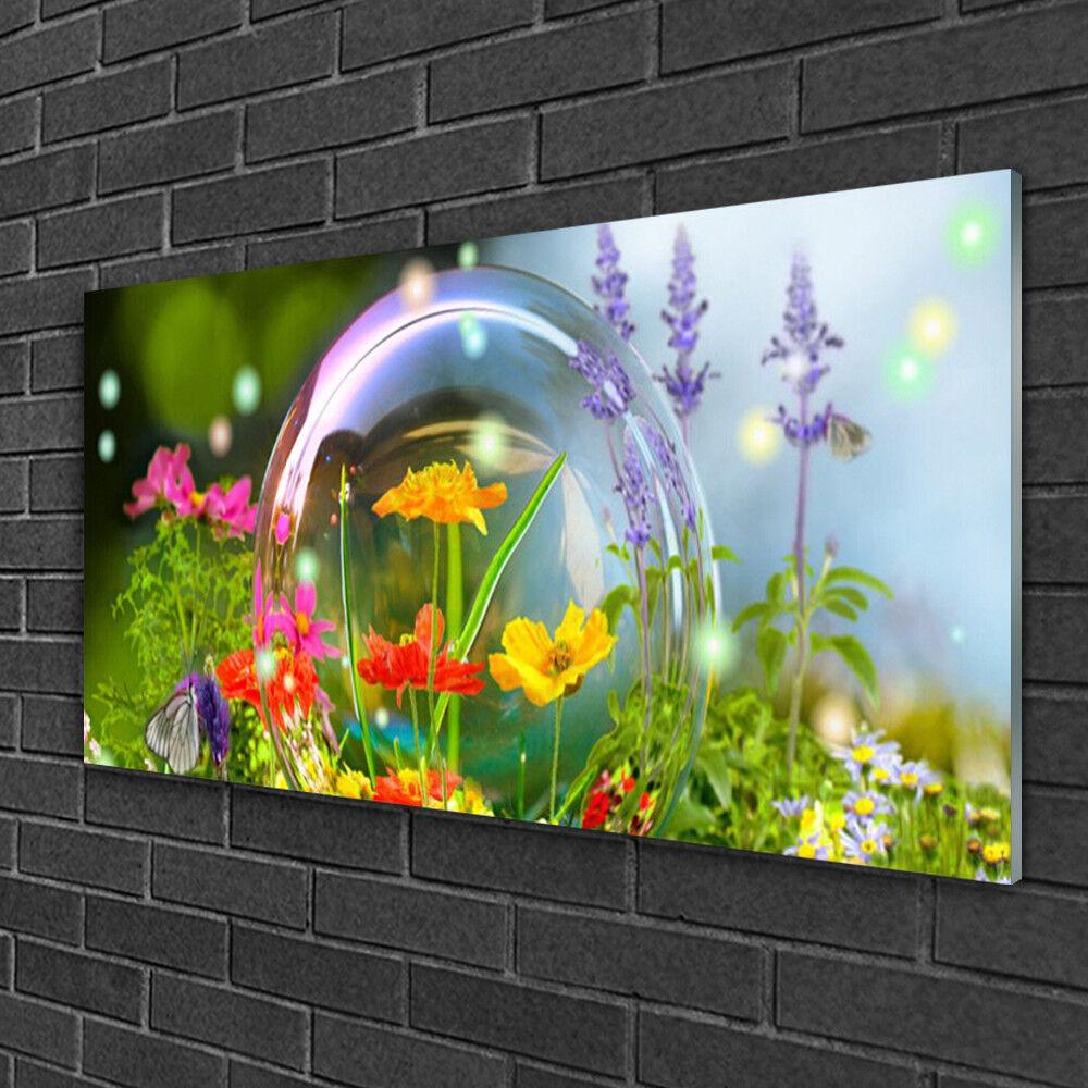 Vetro acrilico immagini 100x50 Immagine Muro Stampa Fiori Natura