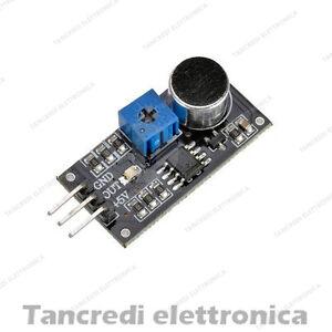 Respectueux Modulo Di Rilevamento Vocale Sensore Rumore Suono Audio Arduino Lm386 Microfono