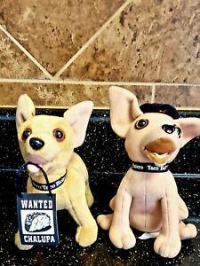 "Lot of 2 Taco Bell Yo Quiero Dog Chihuahua Plush 6"" No sound Free Ship"