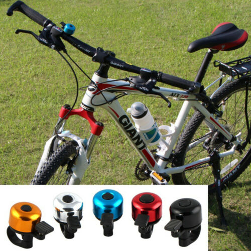 Bicycle Bike Handlebar Bell Aluminum Alloy Cycling Biking Horn Clear Alarm Safe