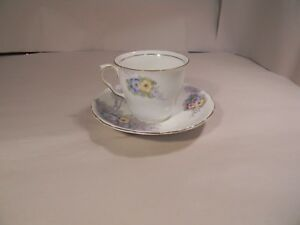 Colclough-China-Longton-England-Floral-Teacup-and-Saucer