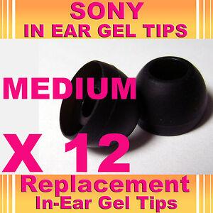 12 Sony Mdr Ex Cx en auriculares auriculares auriculares auriculares de gel Tips Mediano  </span>