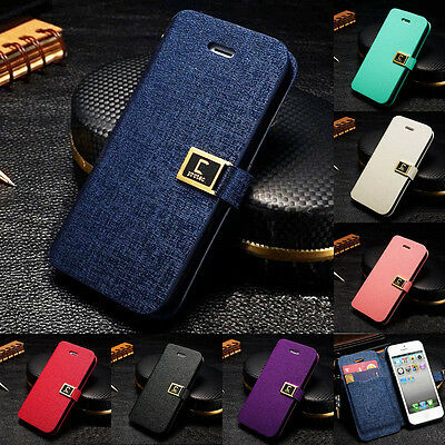 Magnetic PU Leather Credit Card Stand Bag Case Cover Skin for Apple iPhone 4 4S