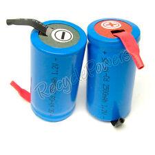 16 BU NiCd SubC Sub C 2500mAh Rechargeable Battery Tab
