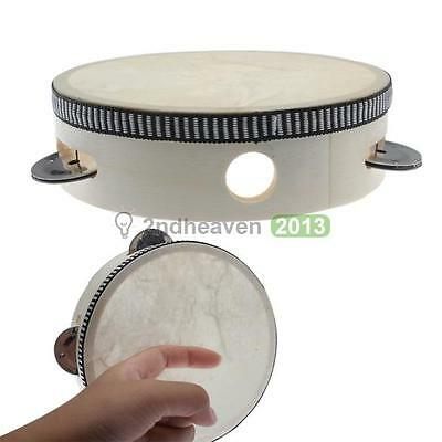 Educational Toy Musical Tambourine Beat Instrument Hand Drum Child Kid Toddler