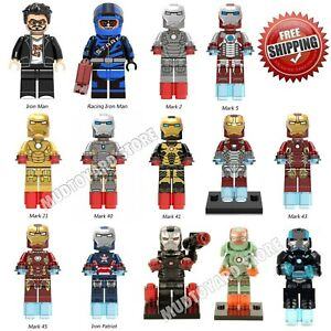 Iron-Man-Minifigure-Marvel-Avengers-Tony-Stark-Ironman-Mark-mini-Figure-minifig