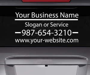 Personalized Custom Business Name Car Sign Vinyl Lettering Decal Truck phone BS9