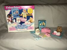 Fisher Price Loving Family Dollhouse Pajama Party Puppy Dog White Tan Doll Toy