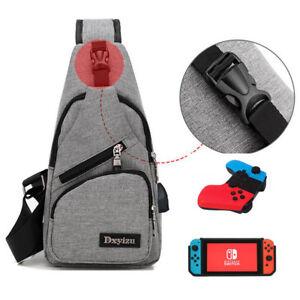 Image is loading FOR-Nintendo-Switch-Backpack-Gamer-Elite-Crossbody-Travel- 068356e381ca6