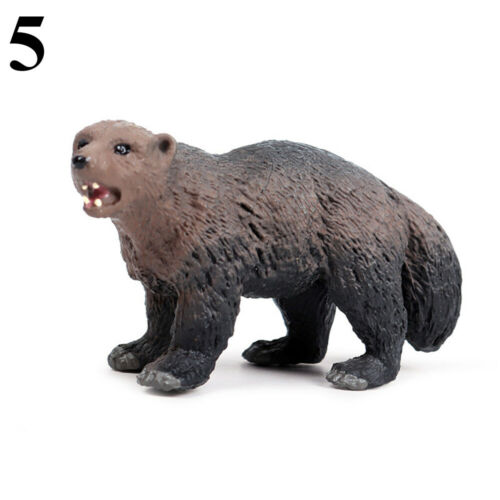 Simulation Beaver Anteater Badger Miniature Wild Animal Figurine Statue n