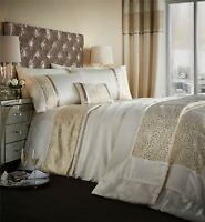 Luxor Jacquard Bedspread Quilted Throw, King Size Throw, Gold, 240 X 260 Cm