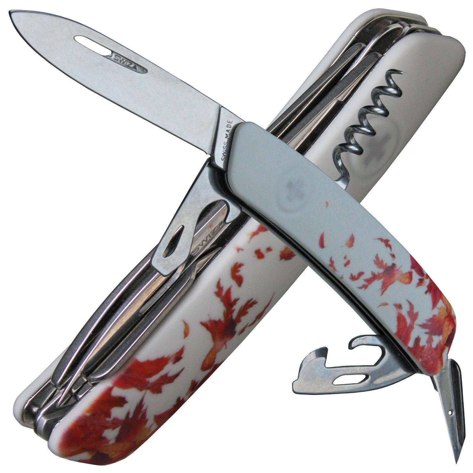 SWIZA Schweizer Messer weisse Anti-Rutsch-Schalen Herbst-Design 11 Funktionen