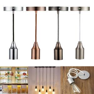 Ceiling-Rose-Braided-Fabric-Flex-Pendant-Lamp-Holder-Light-Fitting-Lighting-Kit