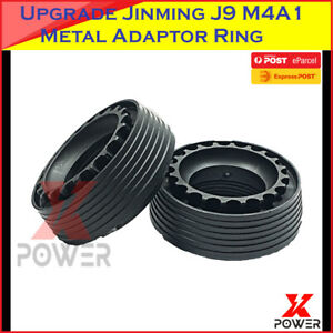Upgrade-Metal-Fishbone-Adaptor-Ring-Jinming-Gen9-J9-M4A1-7-8mm-Gel-balls-Blaster
