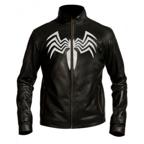Homme Noir Nouveau spider man série Venom en cuir synthétique Veste
