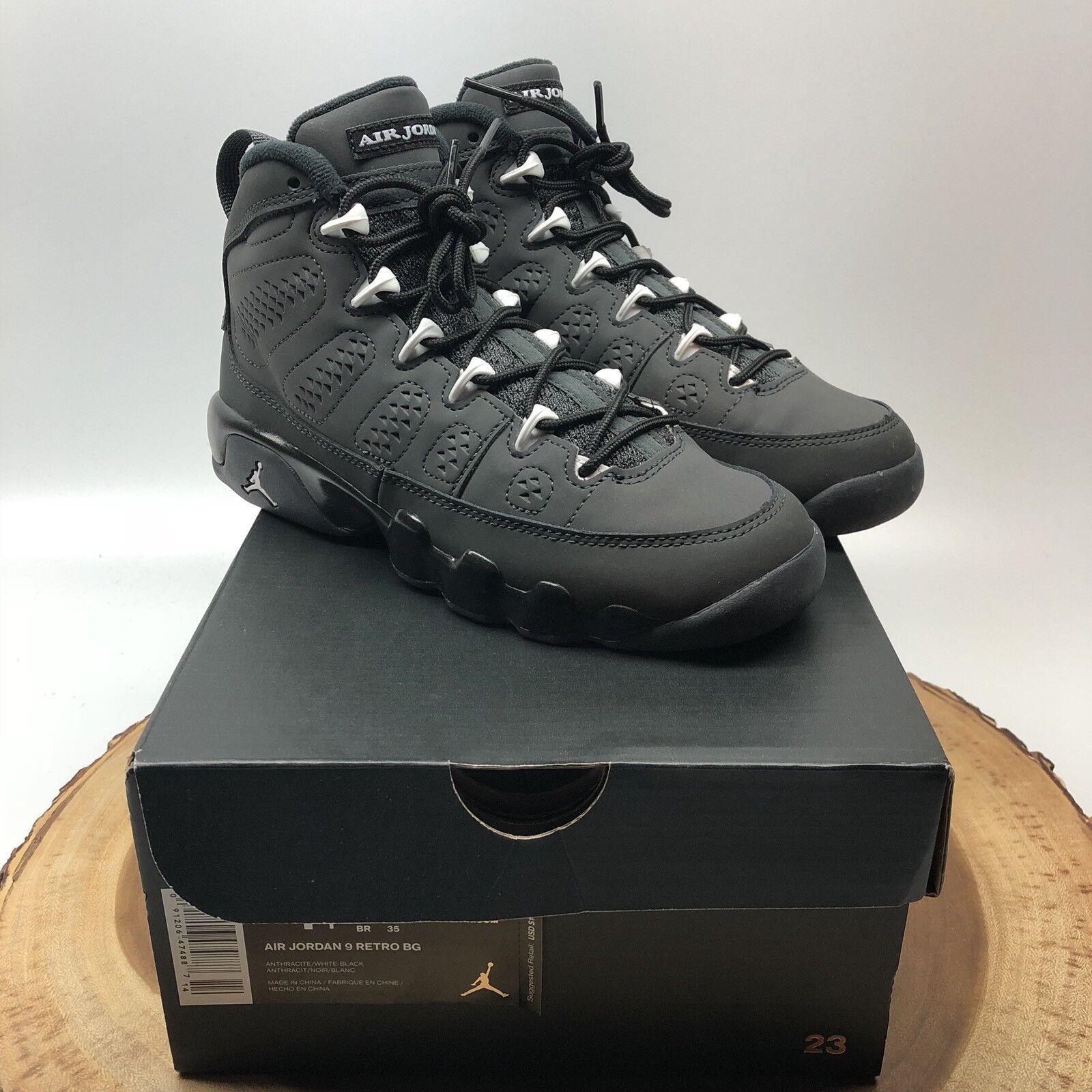 Nike Air Jordan Retro IX Antracite Black White 302359 013 Size 4.5 V VI VII X XI
