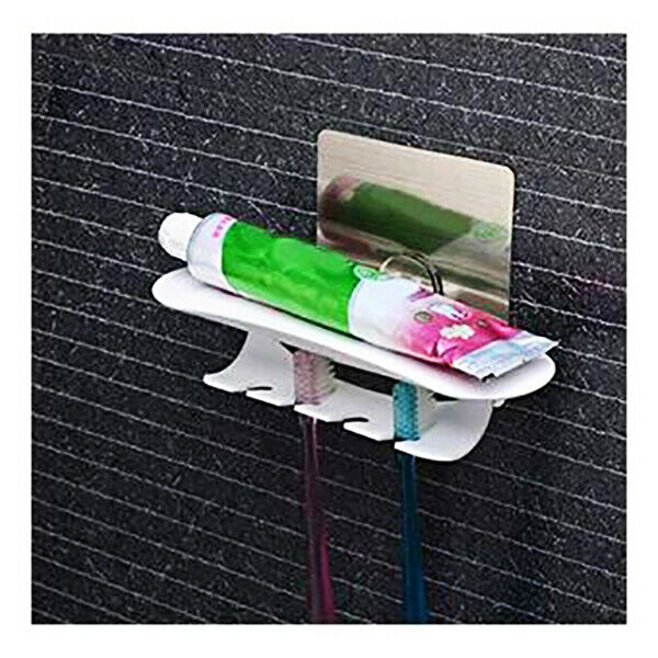 Port Toothbrushes 4 Places Wall Bathroom With Sucker Cleaning Home Hygiene 524