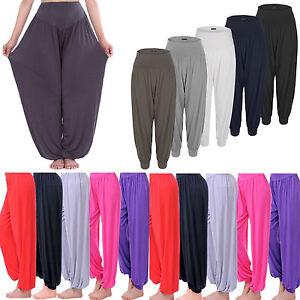 9e5cbf9fb0735 Image is loading Womens-Baggy-Harem-Trousers-Pants-Loose-Yoga-Ali-