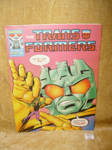 *** Scegliere il problema *** ORIGINALE British settimanale UK TRANSFORMERS MARVEL COMICS