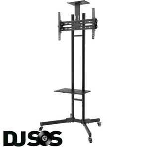 MOBILE TV STAND TROLLEY WITH SHELF PS-MTSTWS28B