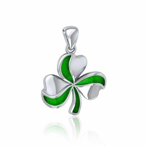 Lucky Trèfle Vert Trèfle Pendentif en argent sterling par Peter Stone Fine Jewelry
