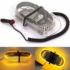 240 LED 12V Car Strobe Warning Lamp Emergency Magnetic Hazard Beacon Light Amber