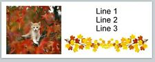 Personalized Address Labels Fall Autumn Kitty Cat Buy 3 Get 1 Free Jx 162