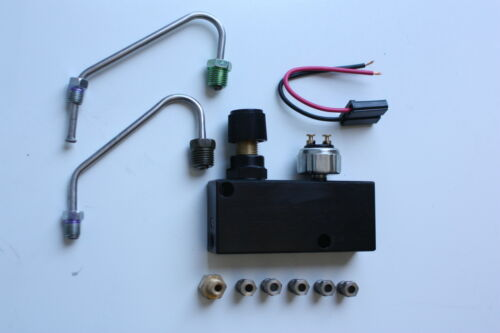 "8/"" Dual Zinc Power Brake Booster Kit GM AFX w Adj Combination Prop Valve"