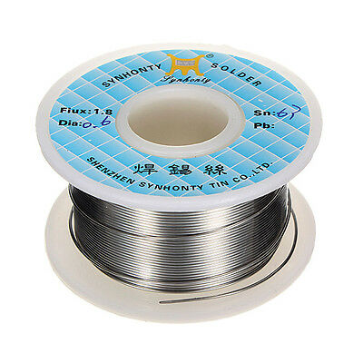 0.6mm 50G 65ft 63/37 Rosin Core Flux 1.8% Tin Lead Roll Soldering Solder Wire