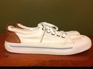 Liz-Claiborne-Shoes-White-Low-Top-Canvas-Sneakers-Women-s-9-5-Athletic-Lizsport