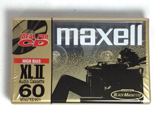 Blank Audio Cassette Sealed Maxell XLII Position IEC Type II High 60 Min 1