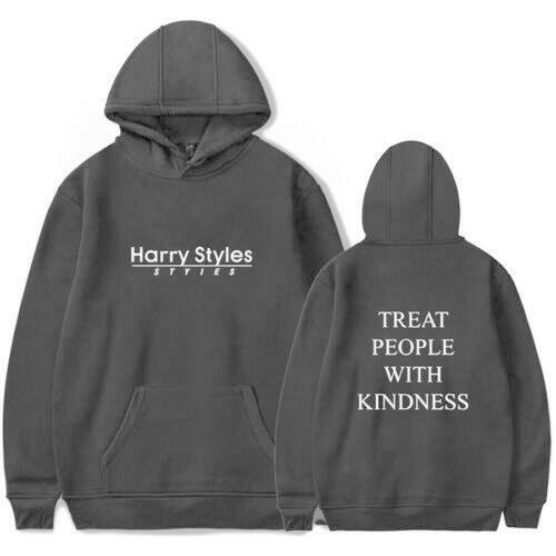 Harry Styles Treat People With Kindness Printed Hoodie Casual Sweatshirt Hooded