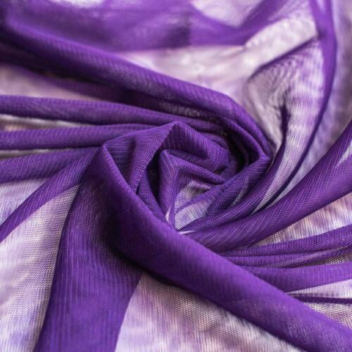 Sold by the metre 150cm wide Deep Purple Soft Tulle Draping Dress Fabric