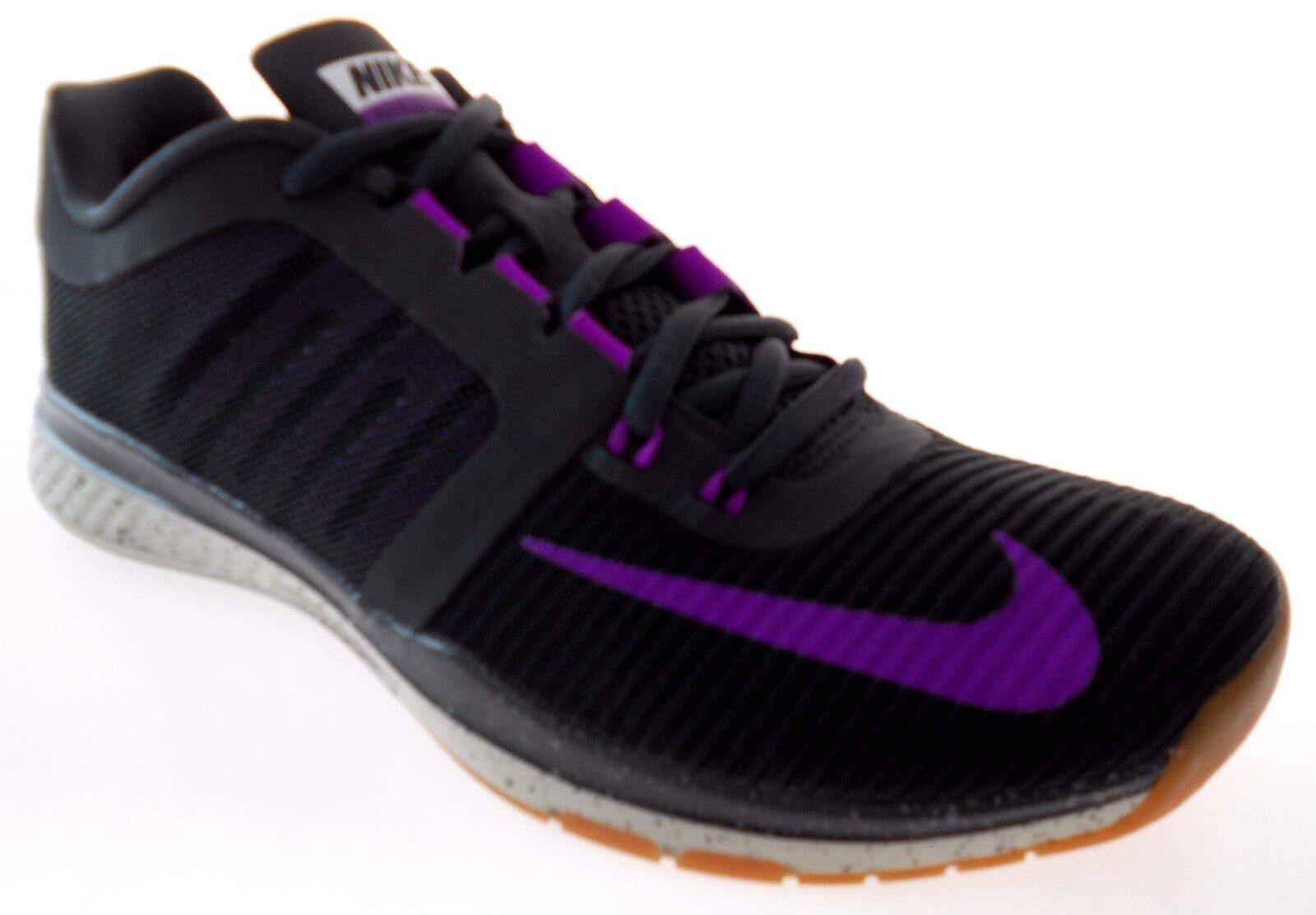 Nike velocità di ingrandimento tr3 uomini antracite / viola formazione scarpe sz 7 100