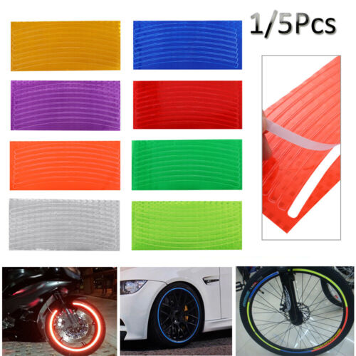 Fluorescent  Reflective Stickers Decal  Wheel Rim Bicycle Car Motorcycle