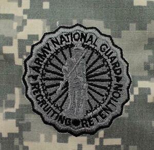 Eeuu-Ejercito-Nacional-Protector-Reclutamiento-amp-Retencion-de-Coser-Logo-Acu