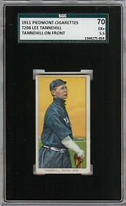 Rare 1909-11 T206 Lee Tannehill Piedmont 350-460 Chicago SGC 70 / 5.5 EX +
