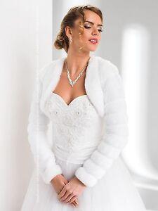 new ladies wedding faux fur shrug cape bolero wrap jacket. Black Bedroom Furniture Sets. Home Design Ideas