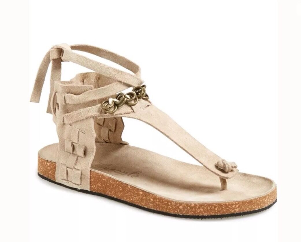 Free People Collins Footbed Sandals Leather shoes  88.00 Size 41 Size US 10