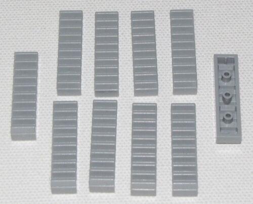 LEGO LOT OF 10 NEW LIGHT BLUISH GREY 1 X 4 GEAR RACK PIECES